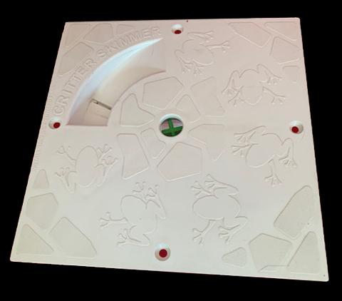 10 inch square white