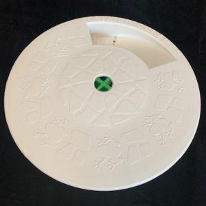 9 inch round white
